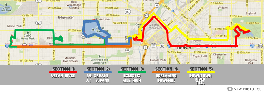 Denver marathon course map