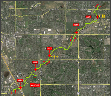 Dog day half course map