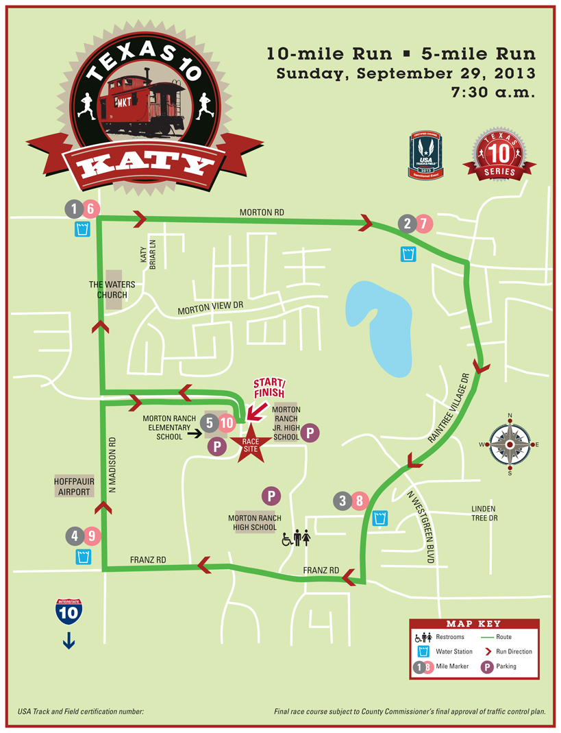 T10 katy course map