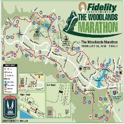 The woodlands marathon course map