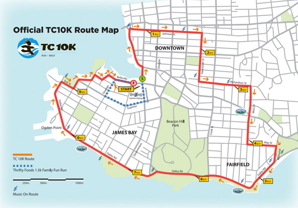 Times colonist 10k course