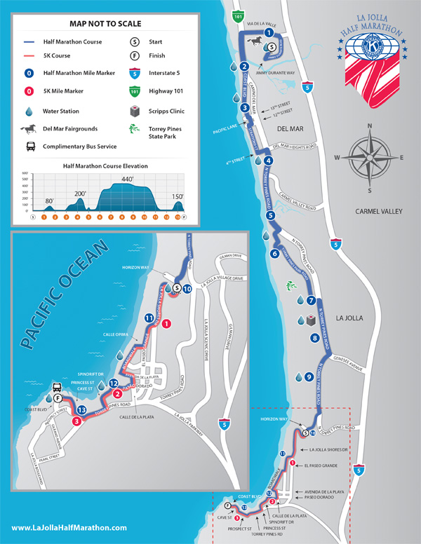 La jolla half marathon course map