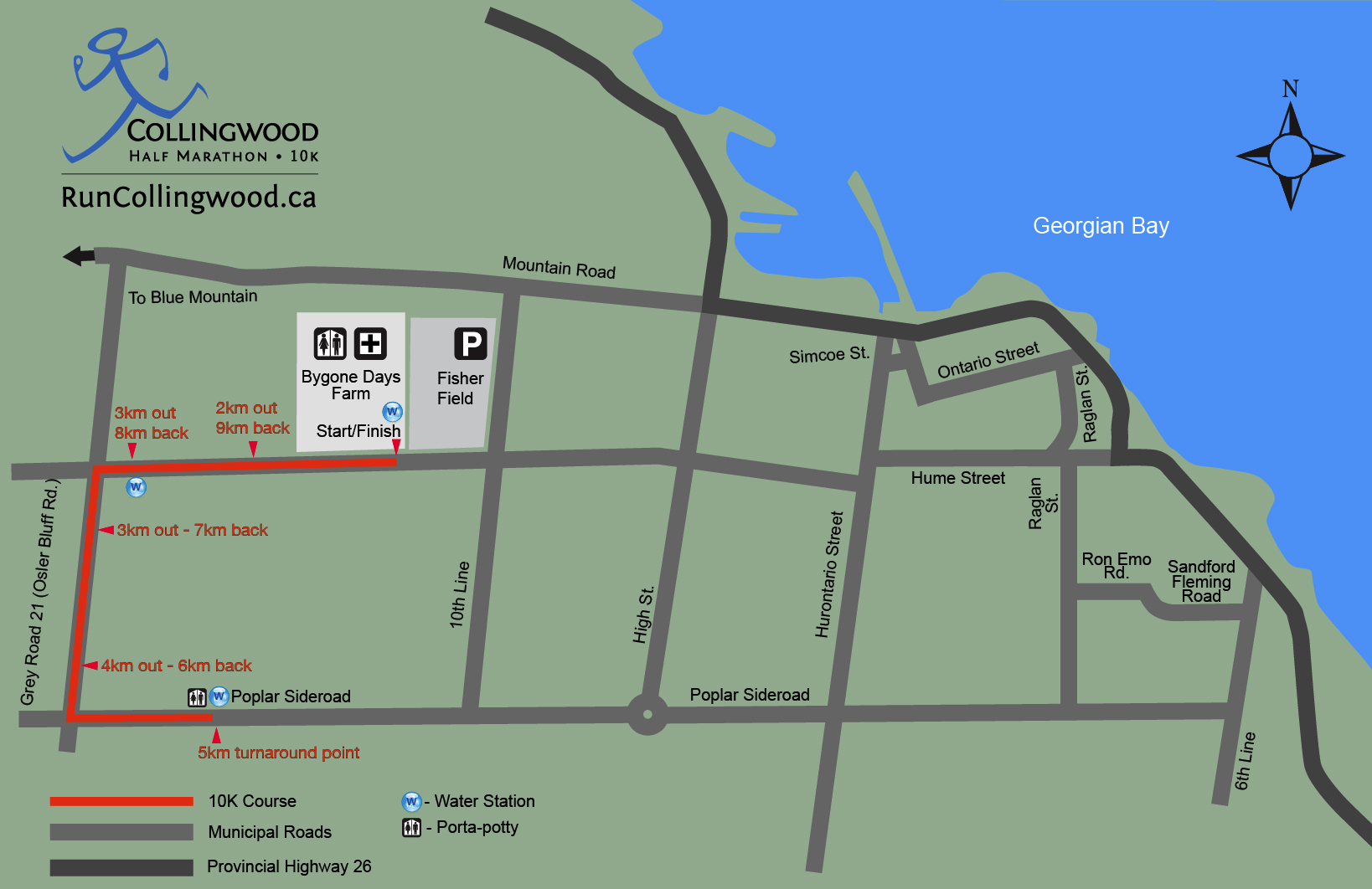 Collingwood 10k map