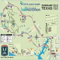 The woodlands half marathon course map