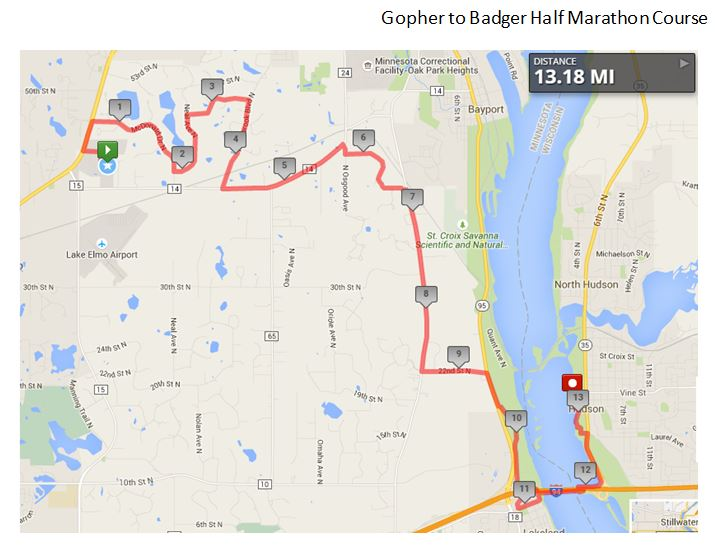 Gophertobadgerhalfmarathoncourse