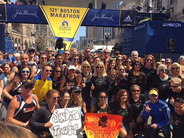 San Diego Track Club at the Boston Marathon