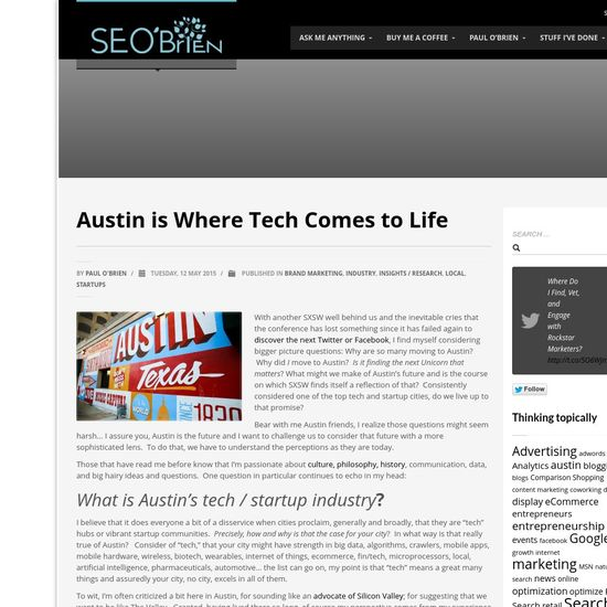Why Tech is increasingly born of Austin, TX