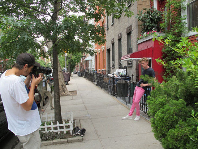 Photographer Beau Grealy shooting bassike High Summer in New York.