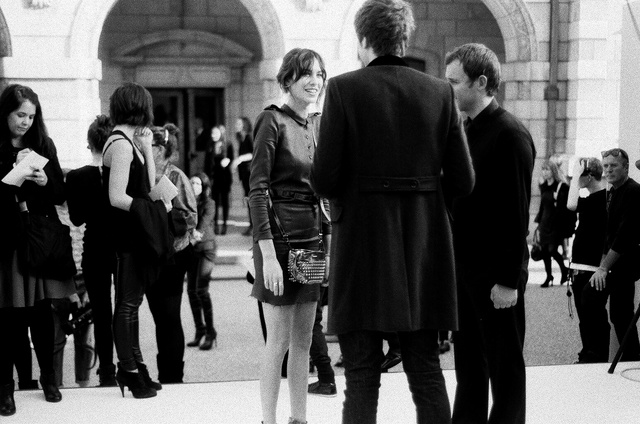 Alexa Chung at Burberry Prorsum in London.