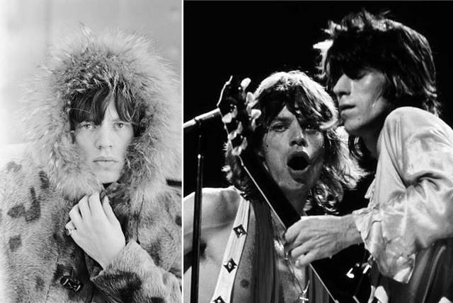Mick Jagger, London, 1964 by Terry O¹Neill; Mick Jagger & Keith Richards, NYC, 1972 by Bob Gruen.