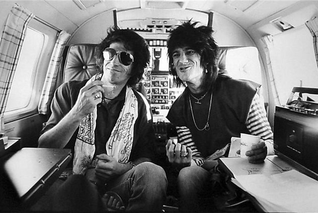 Keith Richards & Ron Wood, Los Angeles CA 1979  by Henry Diltz.