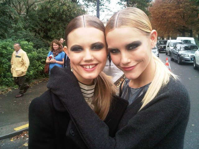 Lindsey Wixon and our coverstar Ashley Smith after Chanel.