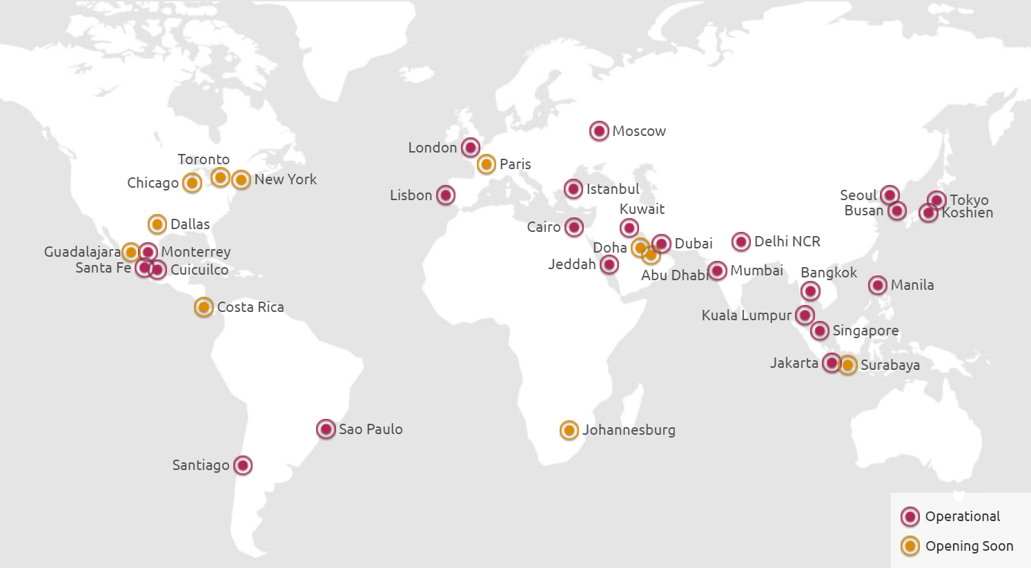 KidZania World Map