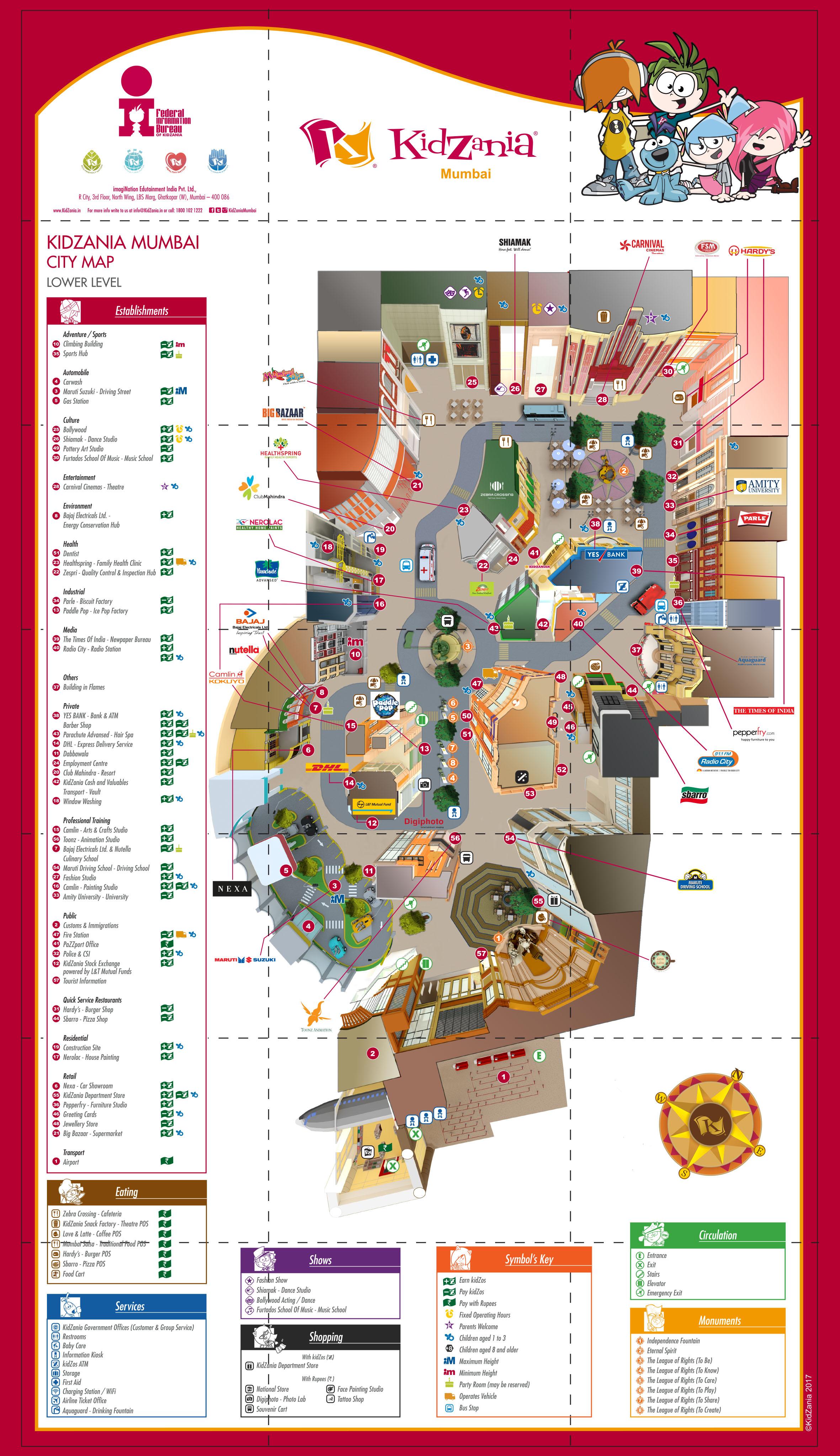 Download Our Map Visit Us Amusement Park for Kids