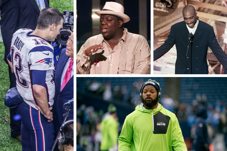 Tom Brady, Biggie, Tupac, Michael Bennett