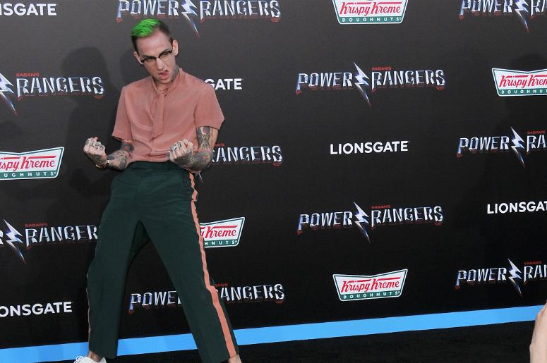 "Blackbear arrives at ""Saban's Power Rangers"" Los Angeles Premiere held at The Village Theatre in Westwood, CA on Wednesday, March 22, 2017."