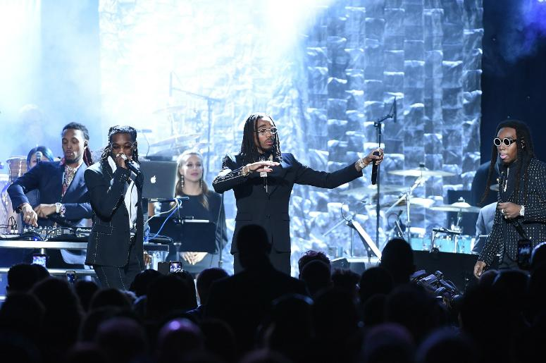 Migos perform at the 2018 Clive Davis Pre-Grammy Gala at the Sheraton New York Times Square