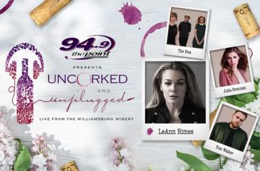 94.9 The Point and The Williamsburg Winery present Uncorked & Unplugged