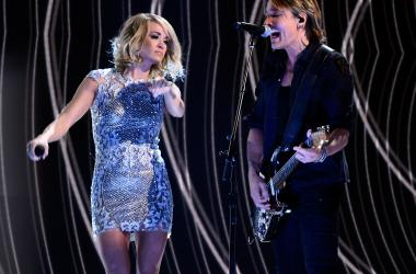 Keith Urban and Carrie Underwood at the Grammy's