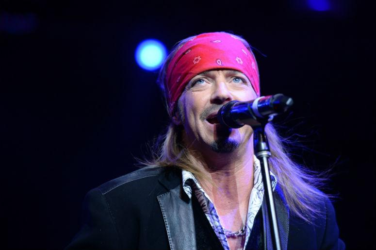 "Singer Bret Michaels performs at the ""Sing For Your Supper Campaign"" Launch at Hard Rock Cafe in New York"