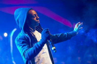 Lil Wayne performs during the Maxim Party on Treasure Island.