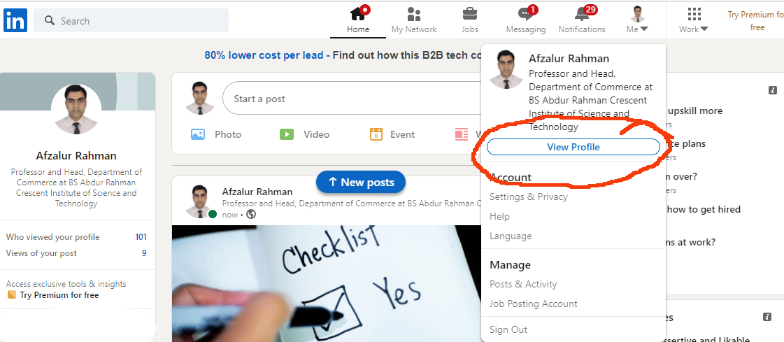 add your resume to your LinkedIn profil