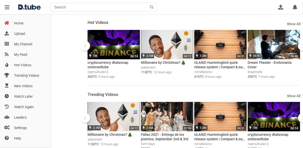 DTube, an alternate of YouTube