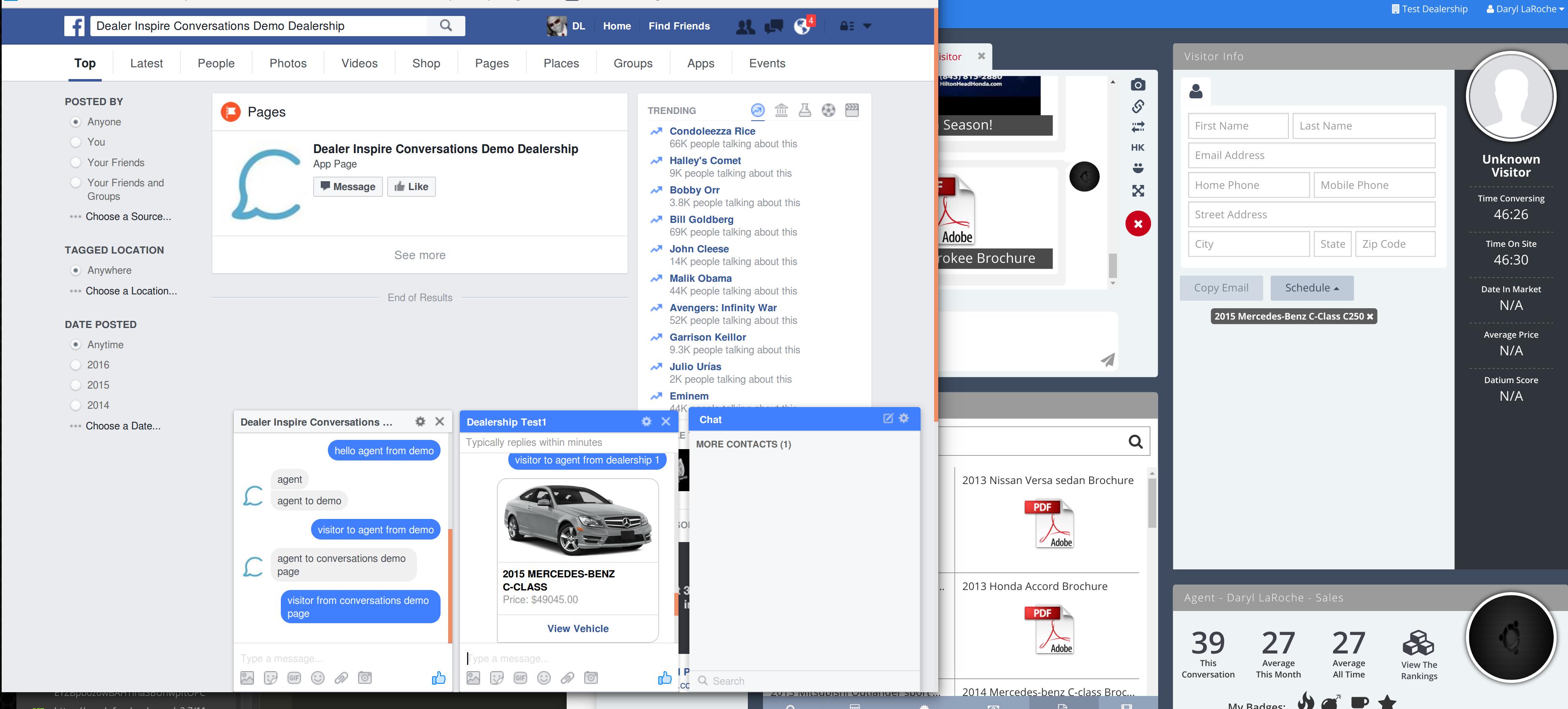 Detail Image of Portfolio item Facebook Messenger BOT - image 1
