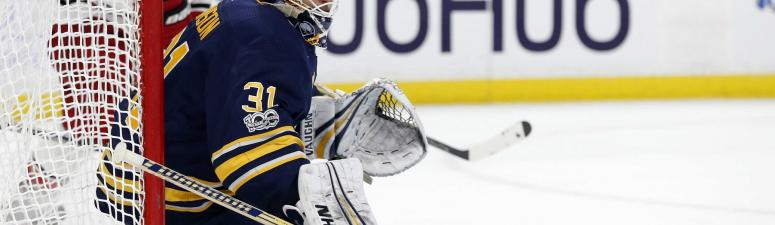 The Sabres will put Johnson in goal tonight