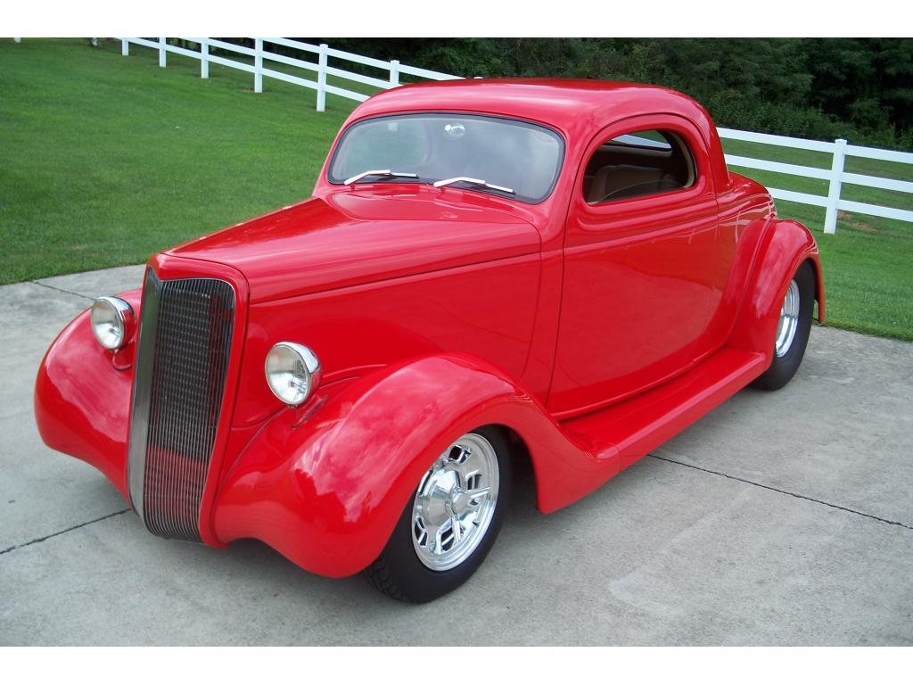 1935 ford 3 window all steel chopped coupe restored 2 door for 1935 ford 2 door sedan for sale