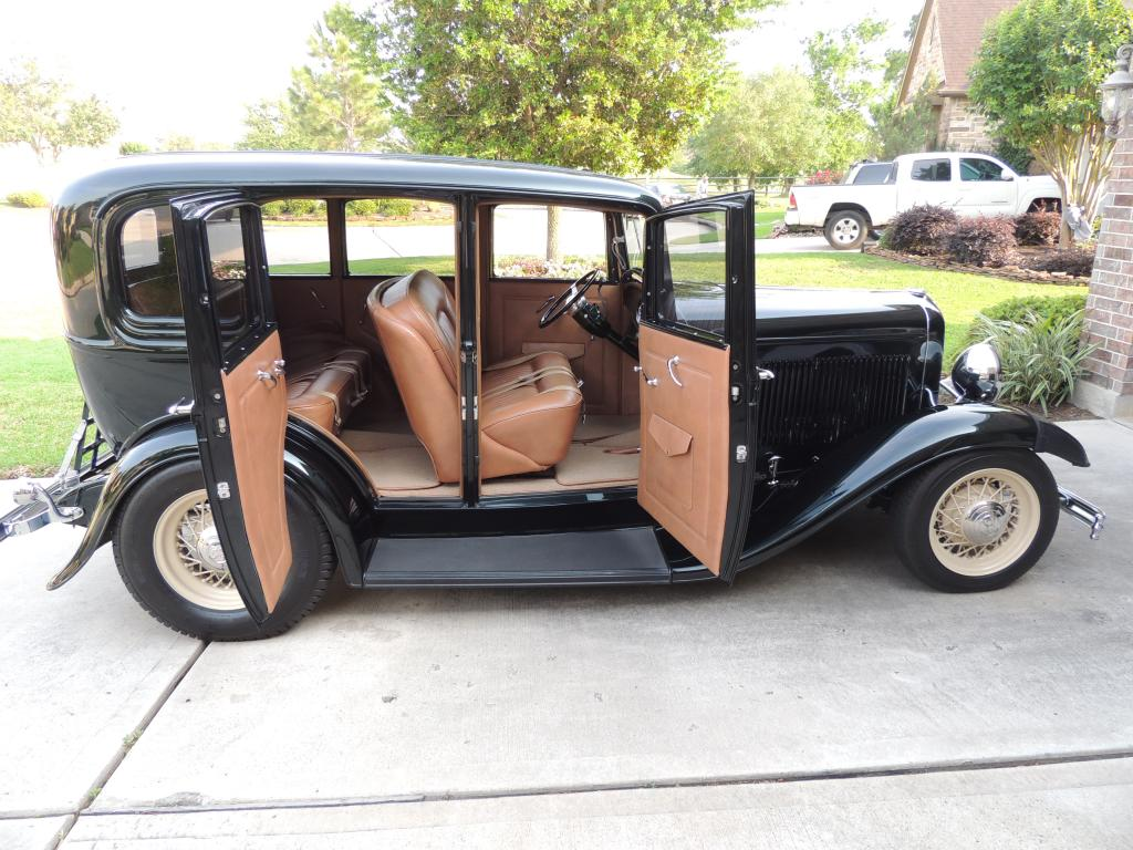 1932 ford sedan 4 door all steel restored sedan v8 8 for