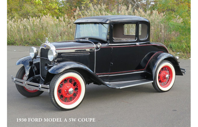 1930 ford 5 window all steel coupe original restored stock for 1930 ford 3 window coupe