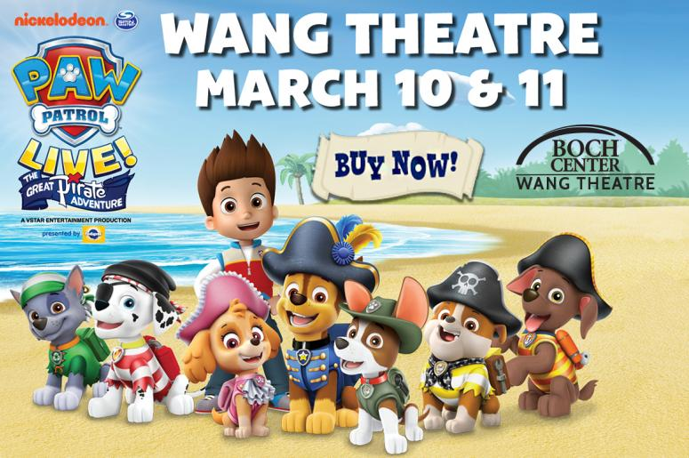 Paw Patrol at the Boch Center Wang Theatre