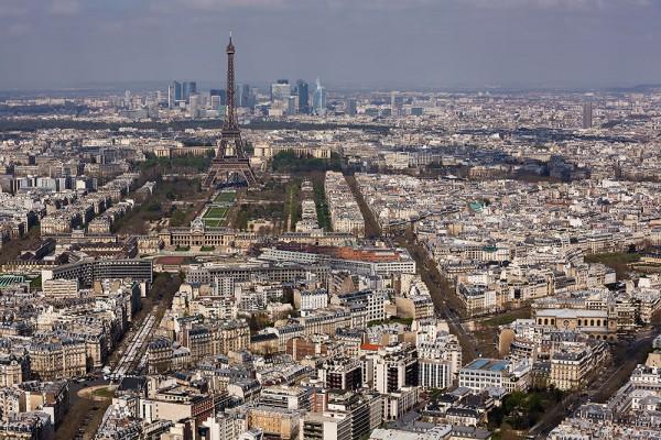 Výhľad na Paríž z veže Montparnasse