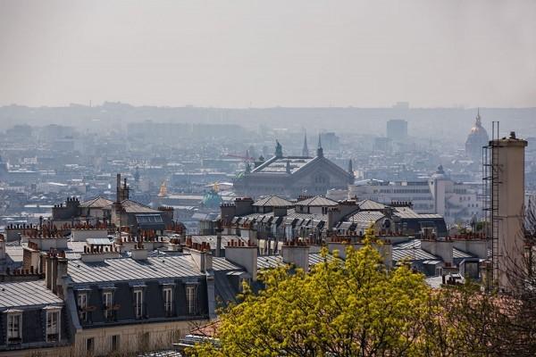 Výhľad na Pariž zo Sacré-Coeur