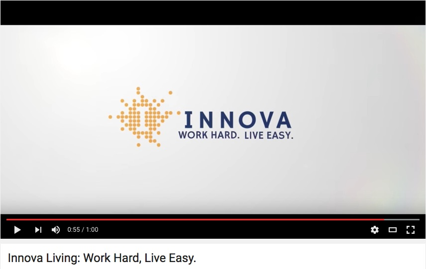 Screenshot of Innova Living logo
