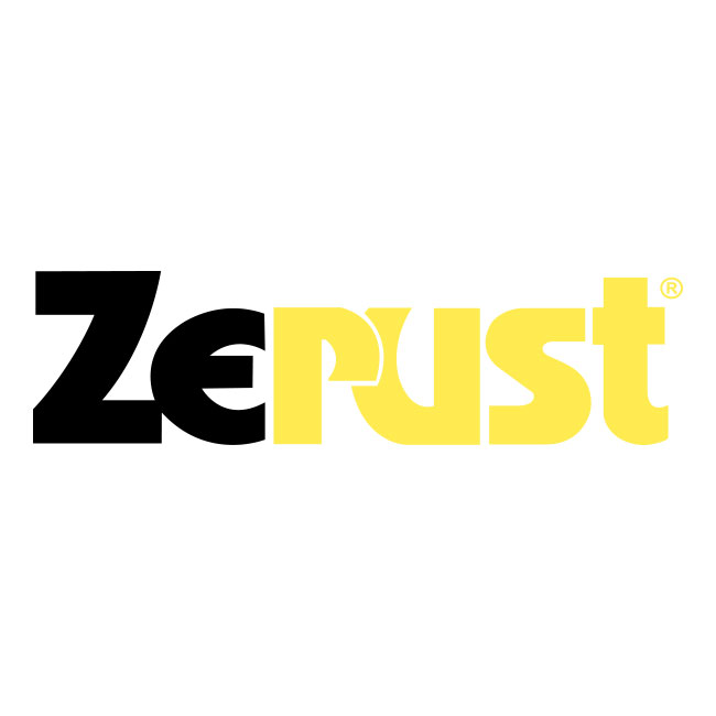 Black and yellow Zerust logo