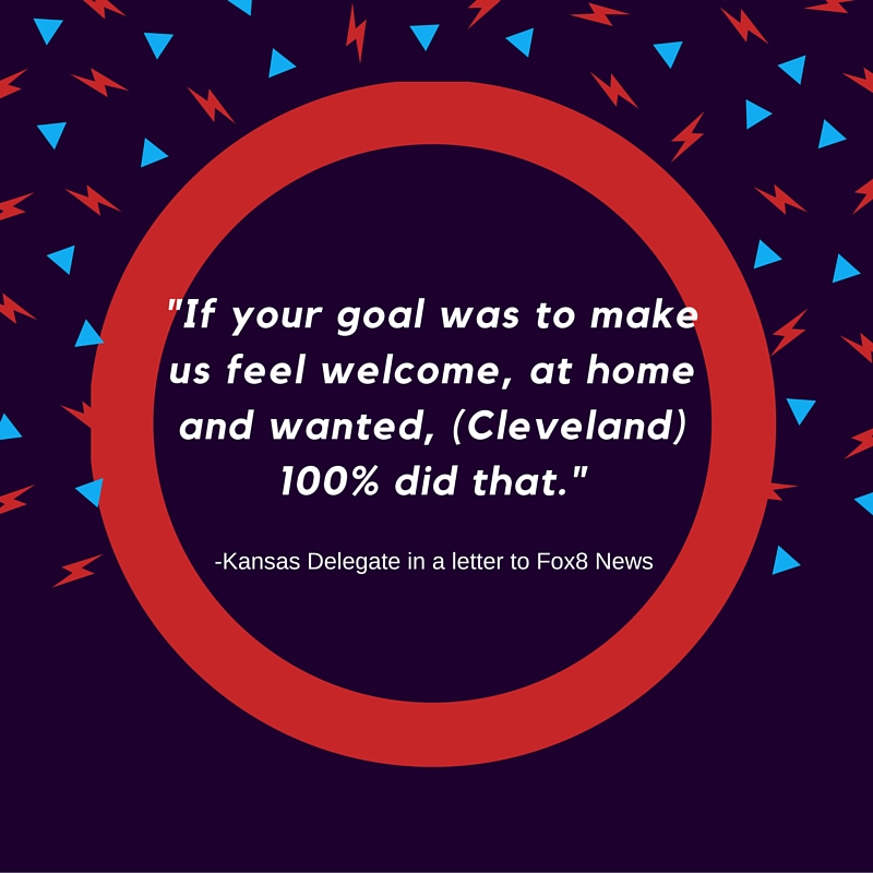 Quote about Cleveland from Kansas delegate at 2016 RNC