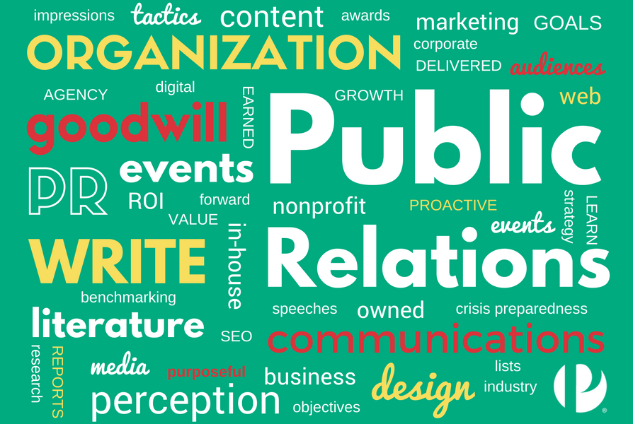 Facets of PR infographic