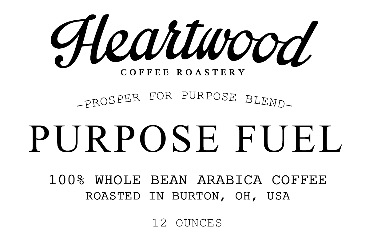Purpose Fuel Coffee Label