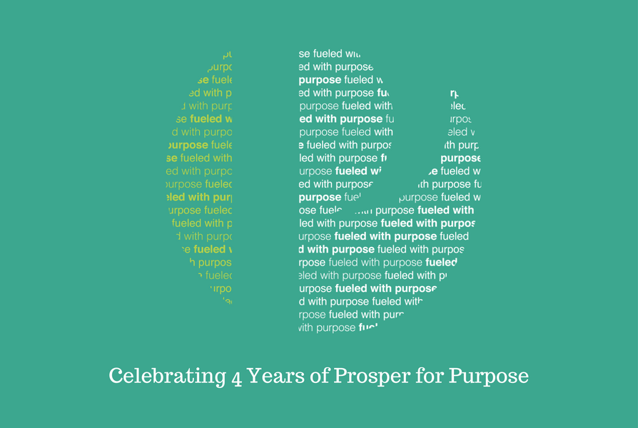 Prosper for Purpose Celebrates Four Years Logo