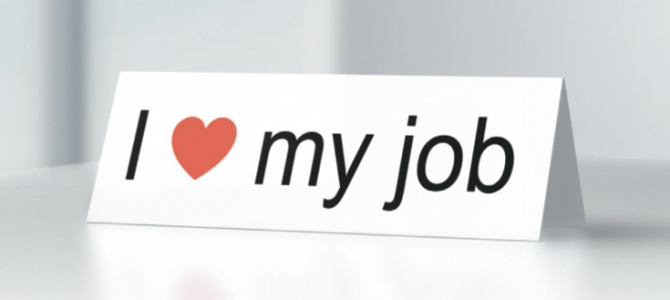 I heart my job sign