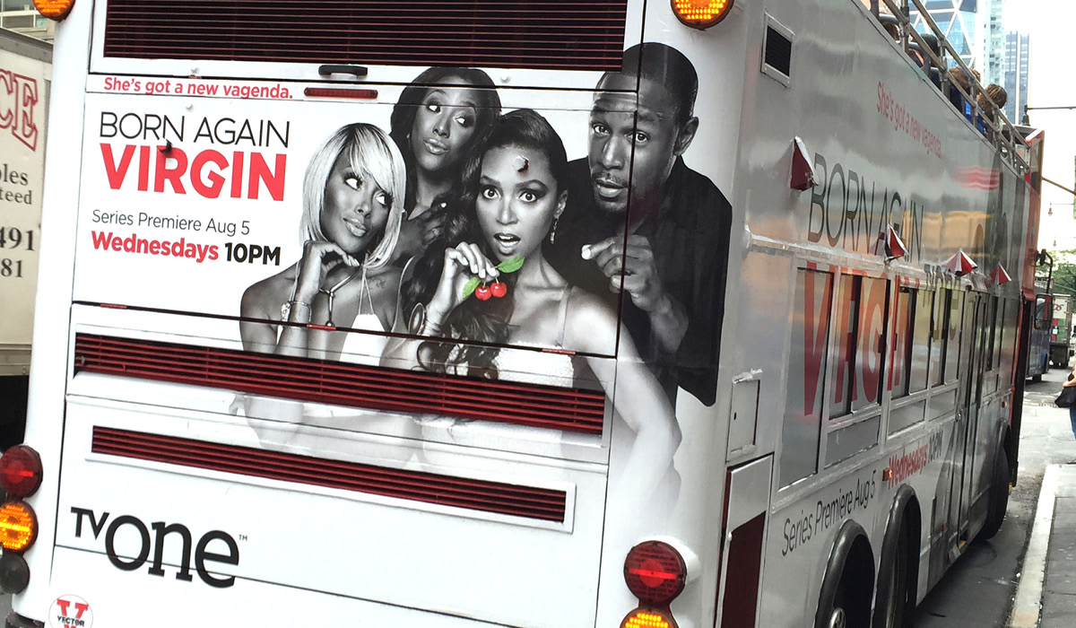 TV One Born Again Virgin Bus Ad