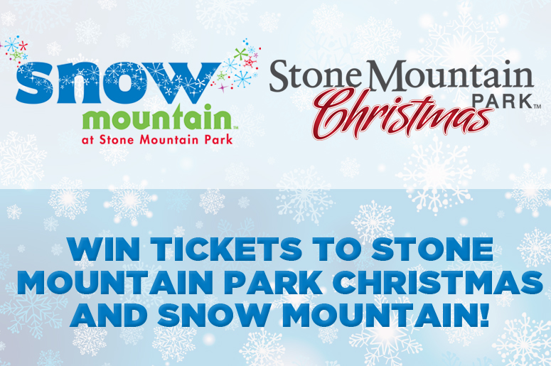 Win a Family 4 Pack to Stone Mountain Park Christmas and Snow Mountain!