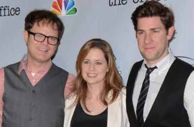 Rainn Wilson, Jenna Fischer and John Krasinski. 'The Office' Series Finale Wrap Party