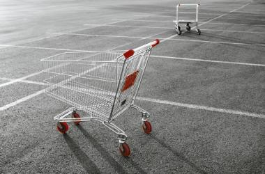 Grocery Cart in Parking Lot