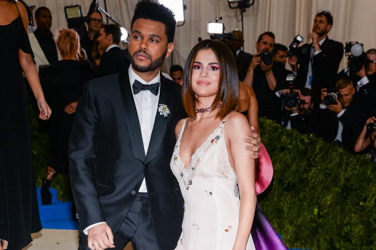 The Weeknd and Selena Gomez arriving at The Metropolitan Museum of Art Costume Institute Benefit in New York City.