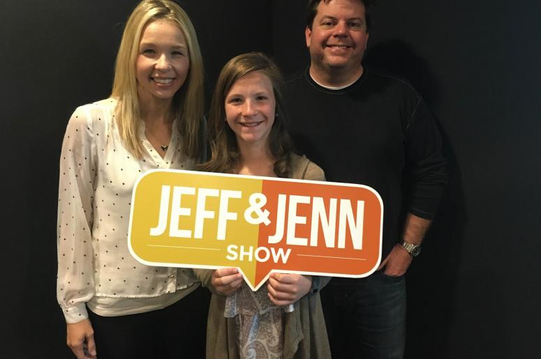 Jeff and Jenn with Sydney Riggins