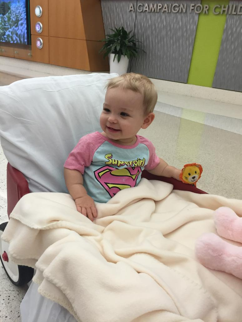 Reese in Hospital Bed