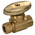 """1/2"""" Sweat x 3/8"""" OD Compression Straight Supply Stop (Unplated) (Lead Free)"""